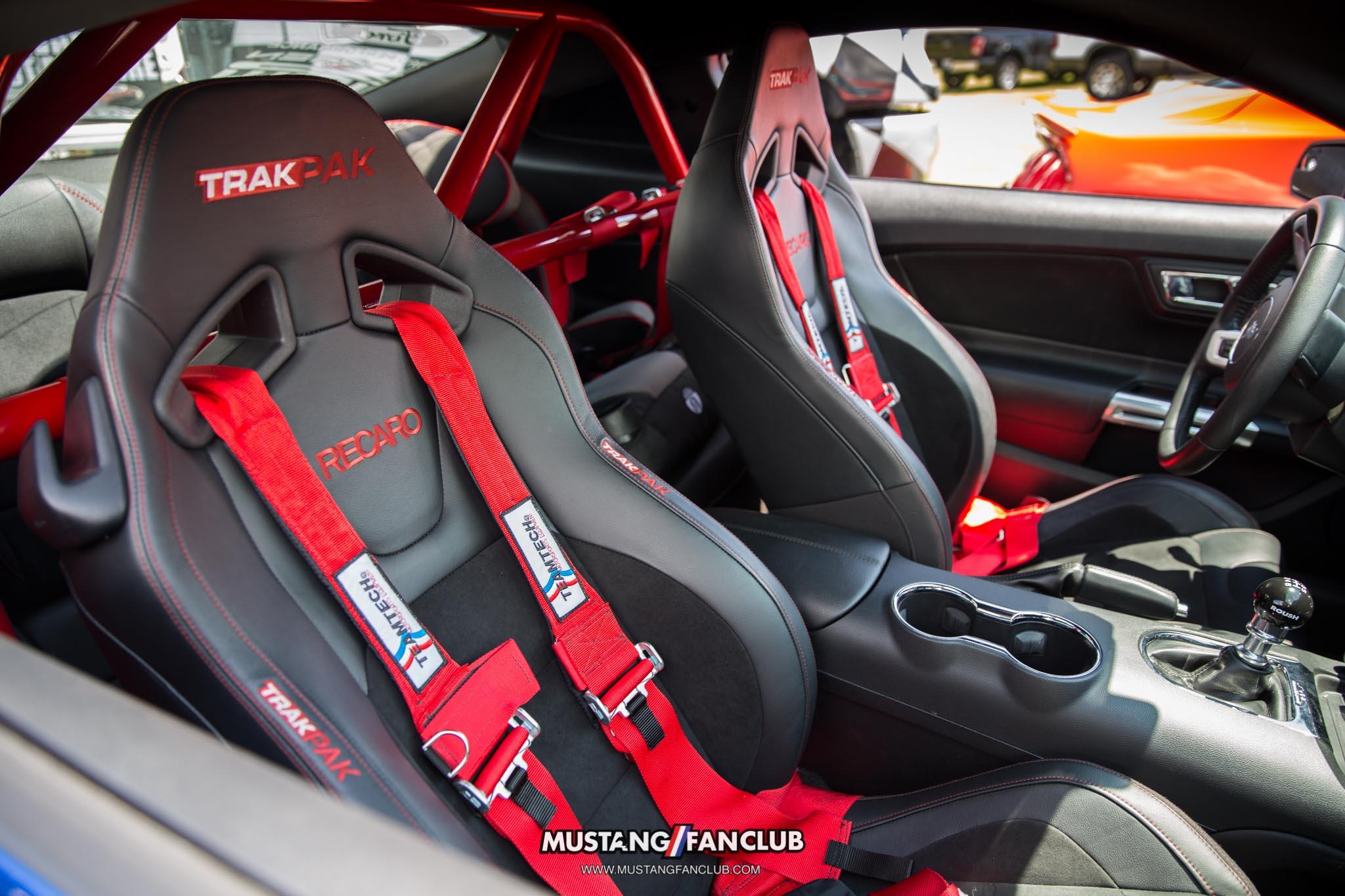 roush performance trakpak mustang fan club mustangfanclub interior recaro race seats