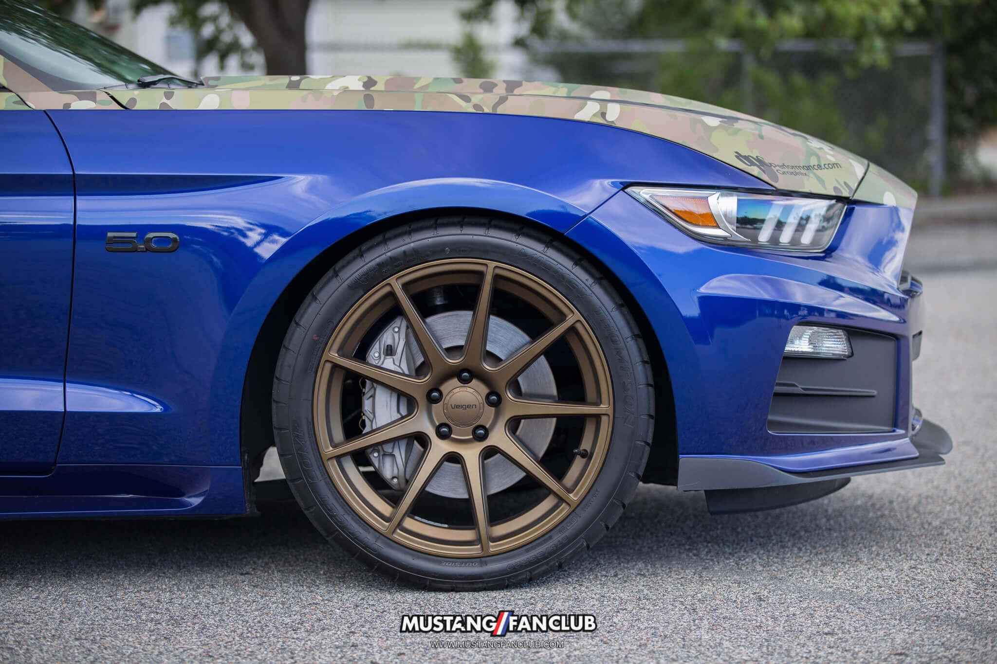 velgen wheels deep impact blue s550 mustang fan club roush performance front fascia camo wrap upr products steve gelles mustang week 2016 16'