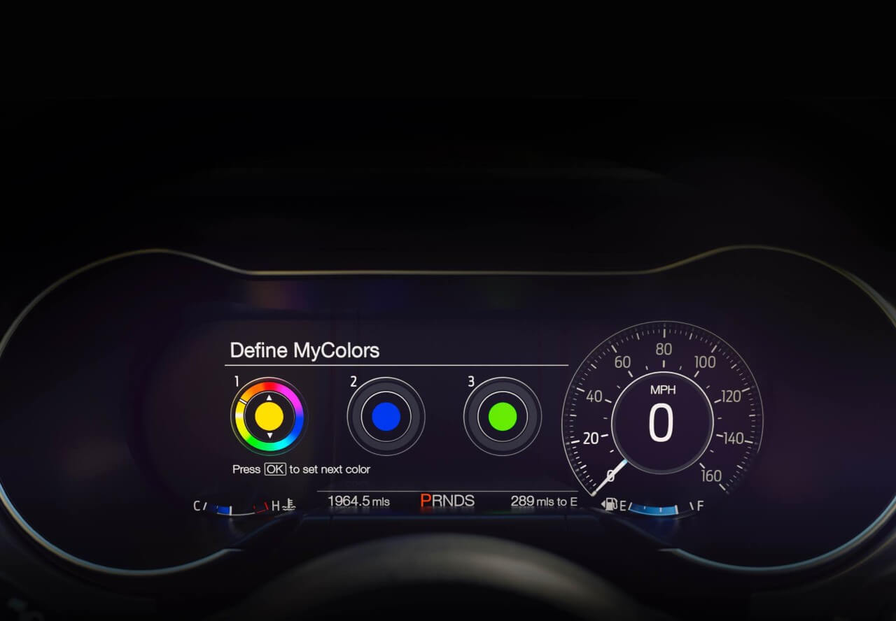 2018 mustang facelift gauges interior