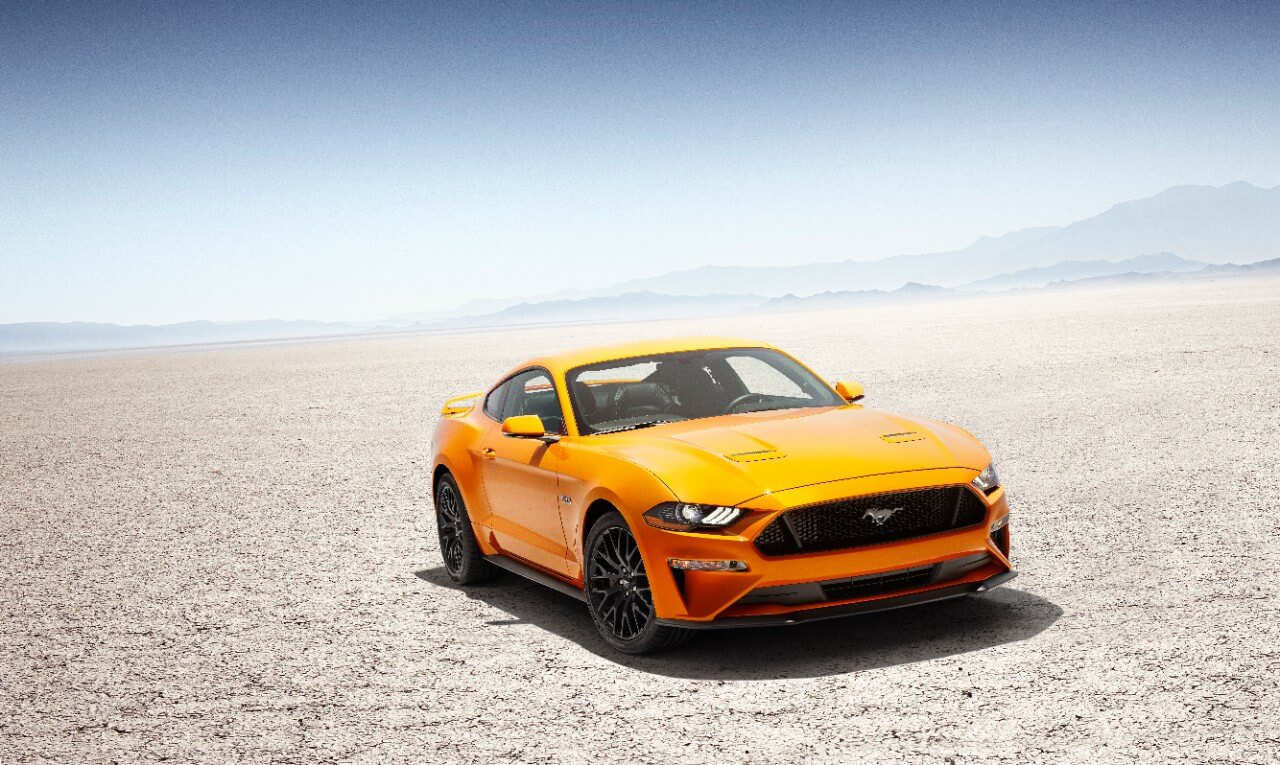 2018 Mustang Orange Fury face lift mustang fan club mustangfanclub release