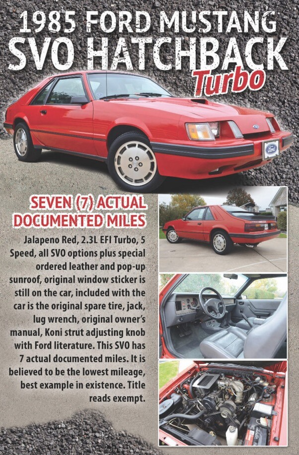 dennis collins mustang mustangs barrett-jackson barrett jackson mustang fan club mustangfanclub world record auction foxbody sn95 low mileage