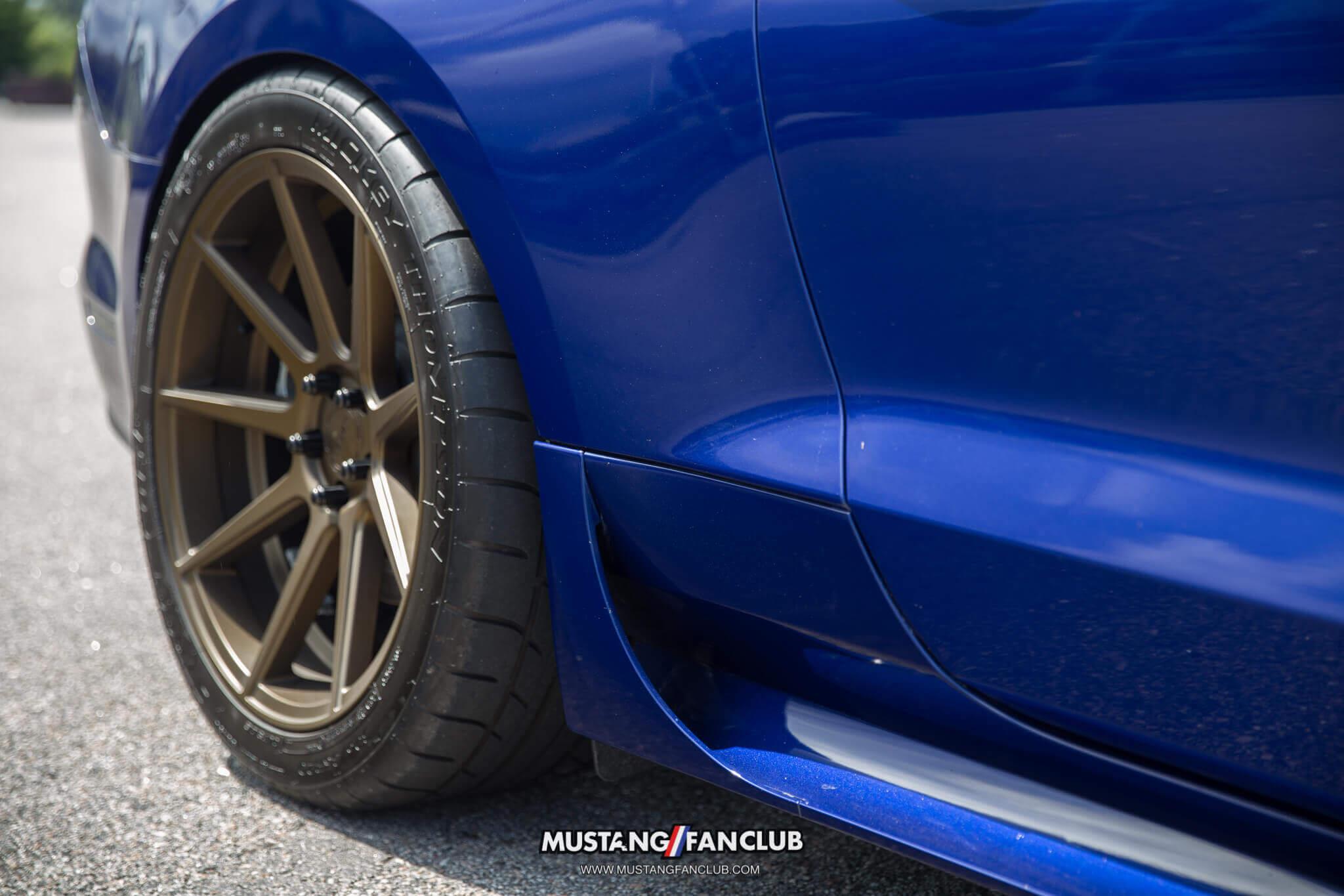 deep impact blue s550 mustang fan club roush performance front fascia camo wrap upr products steve gelles mustang week 2016 16' velgen wheels