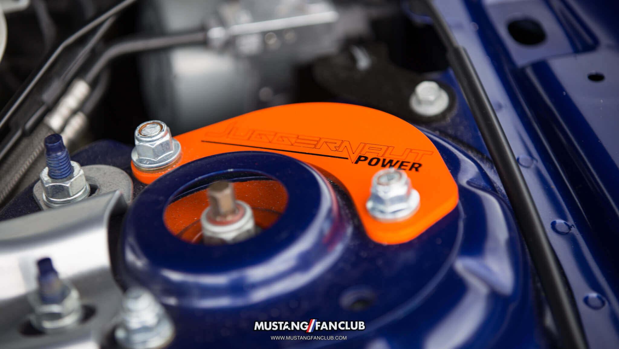 deep impact blue s550 mustang fan club roush performance front fascia camo wrap upr products steve gelles mustang week 2016 16' juggernaut power