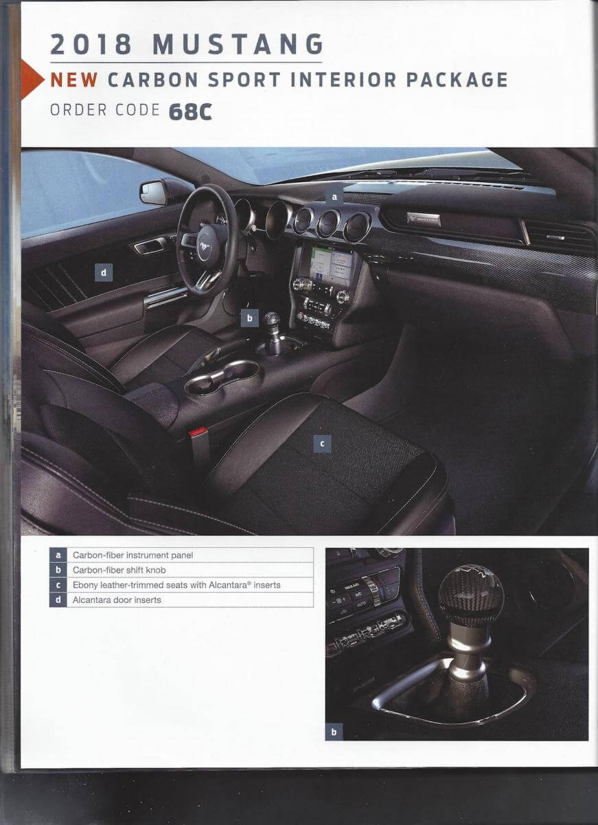 '18 18 2018 Mustang order guide companion new release mustangfanclub fan club unreleased news ford