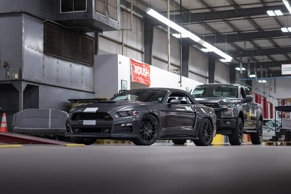 ROUSH Stage 3 mustang assembly line