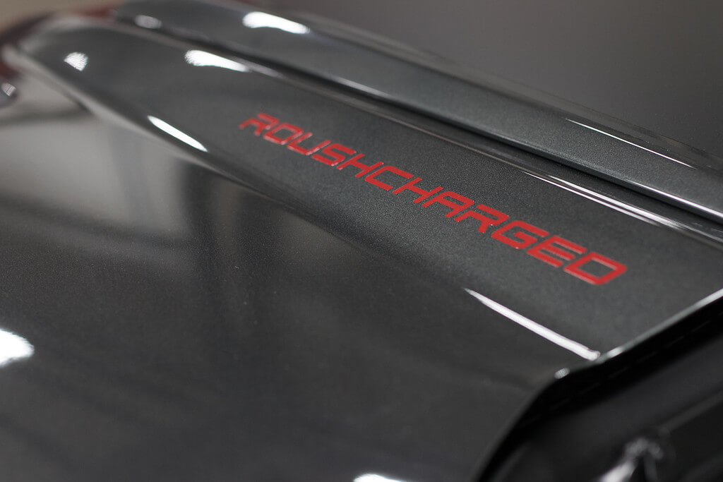 ROUSHCHARGED hood decal
