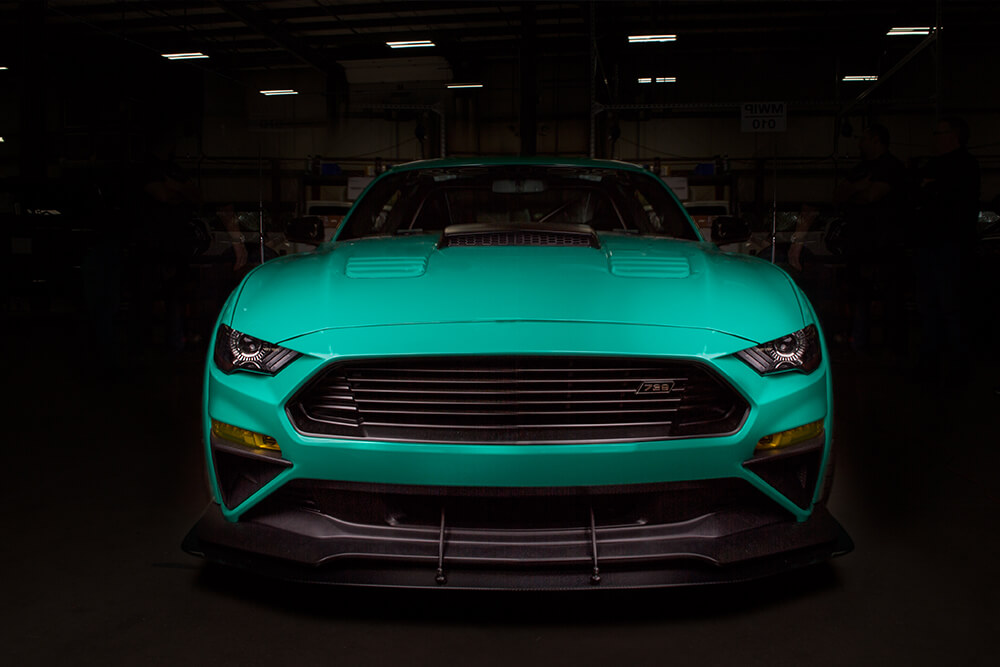 grabber green widebody roush performance 729