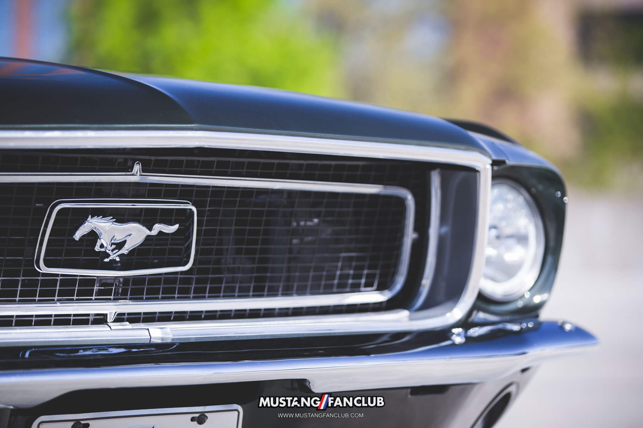 1968 68 mustang coupe grille