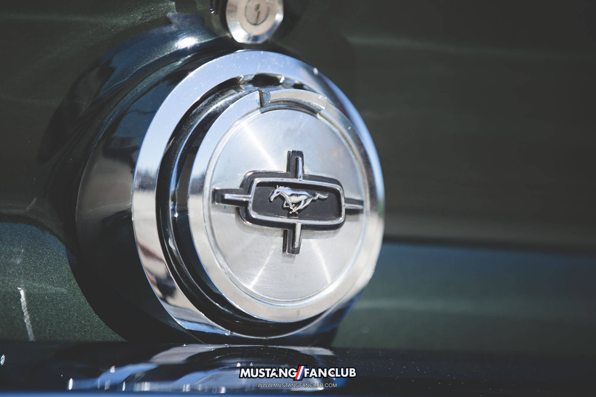 1968 68 mustang coupe gas cap