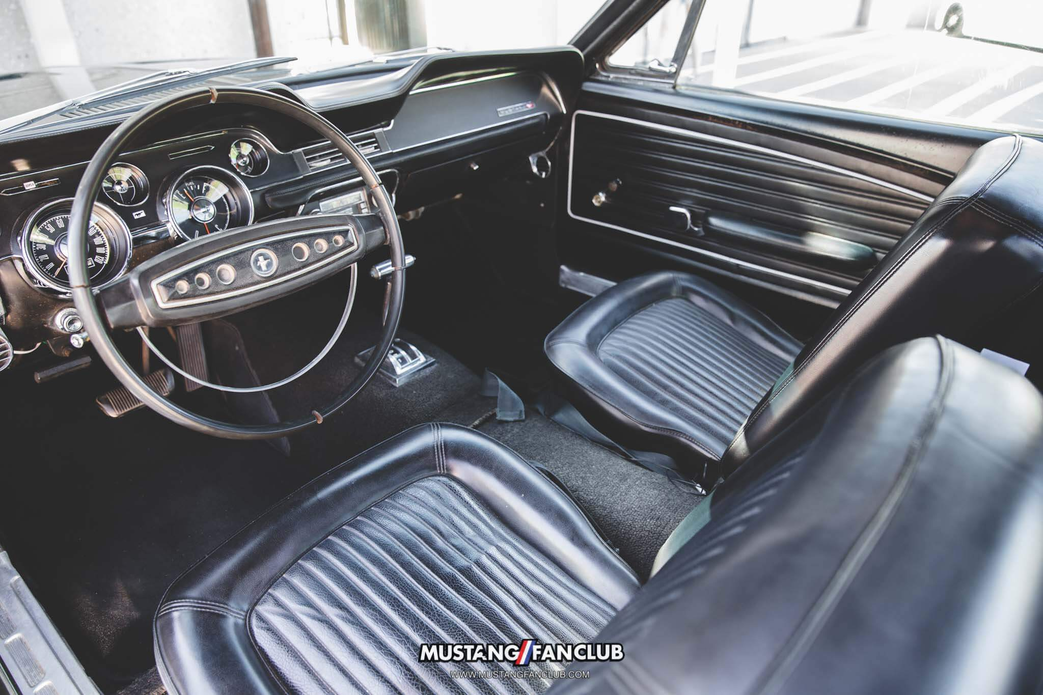 1968 68 mustang coupe leather interior