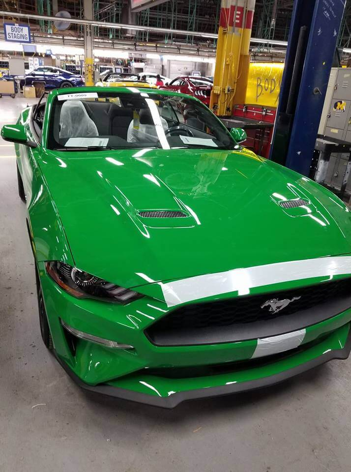 2019 spinel green mustang