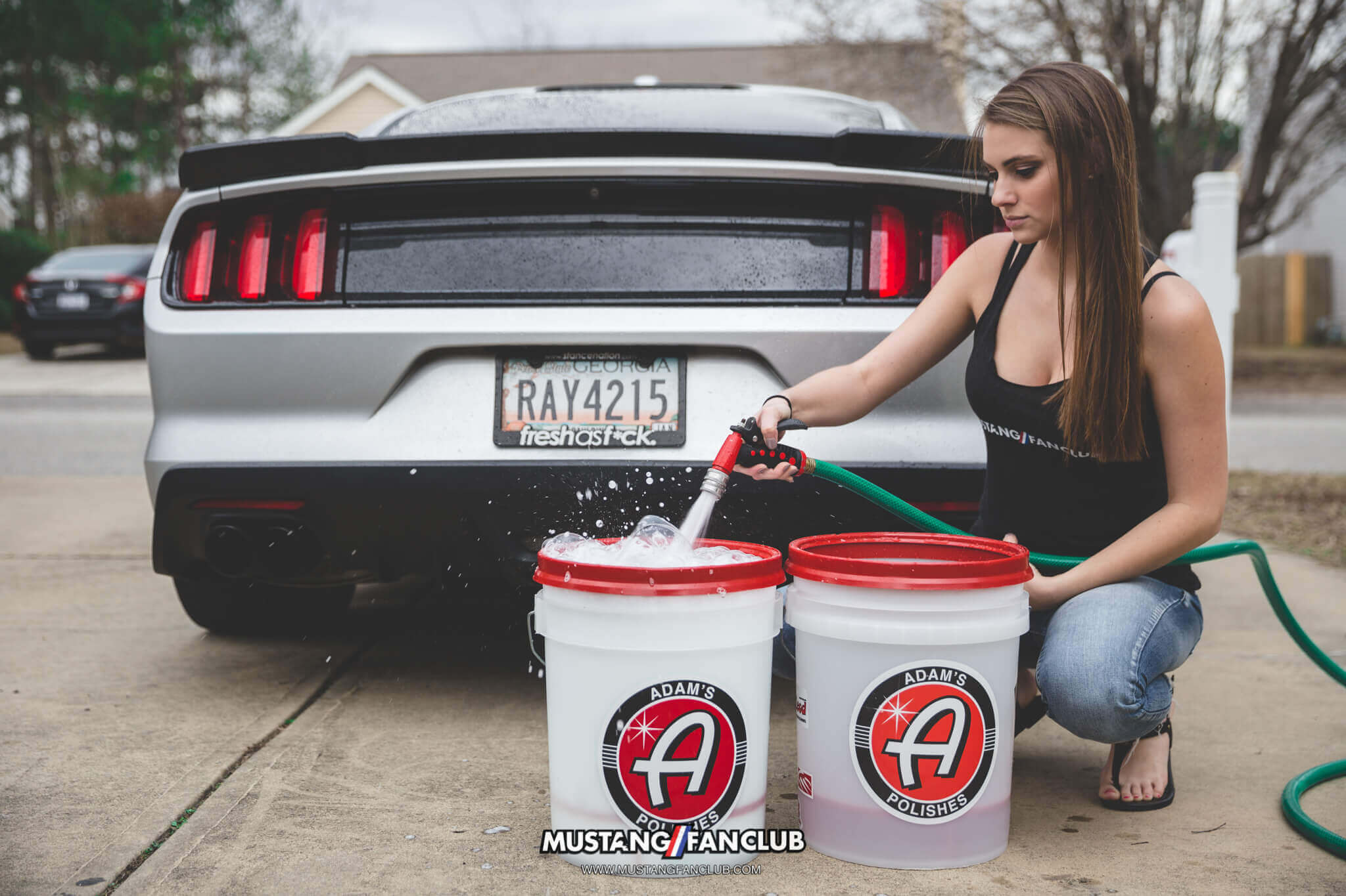 adam's polishes 2 bucket wash mustang