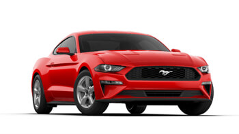 2019 mustang race red
