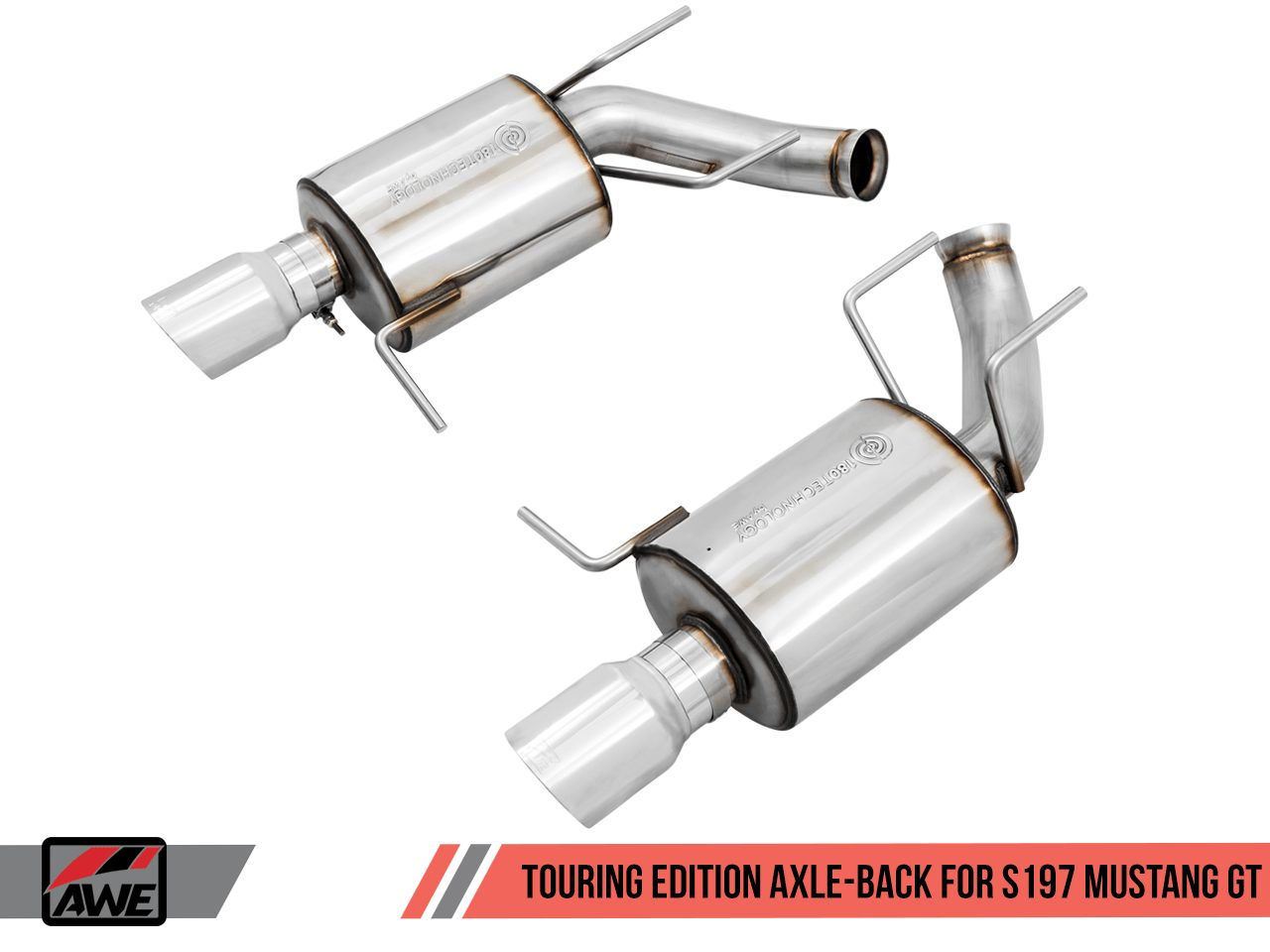 awe touring axle back exhaust s197 mustang