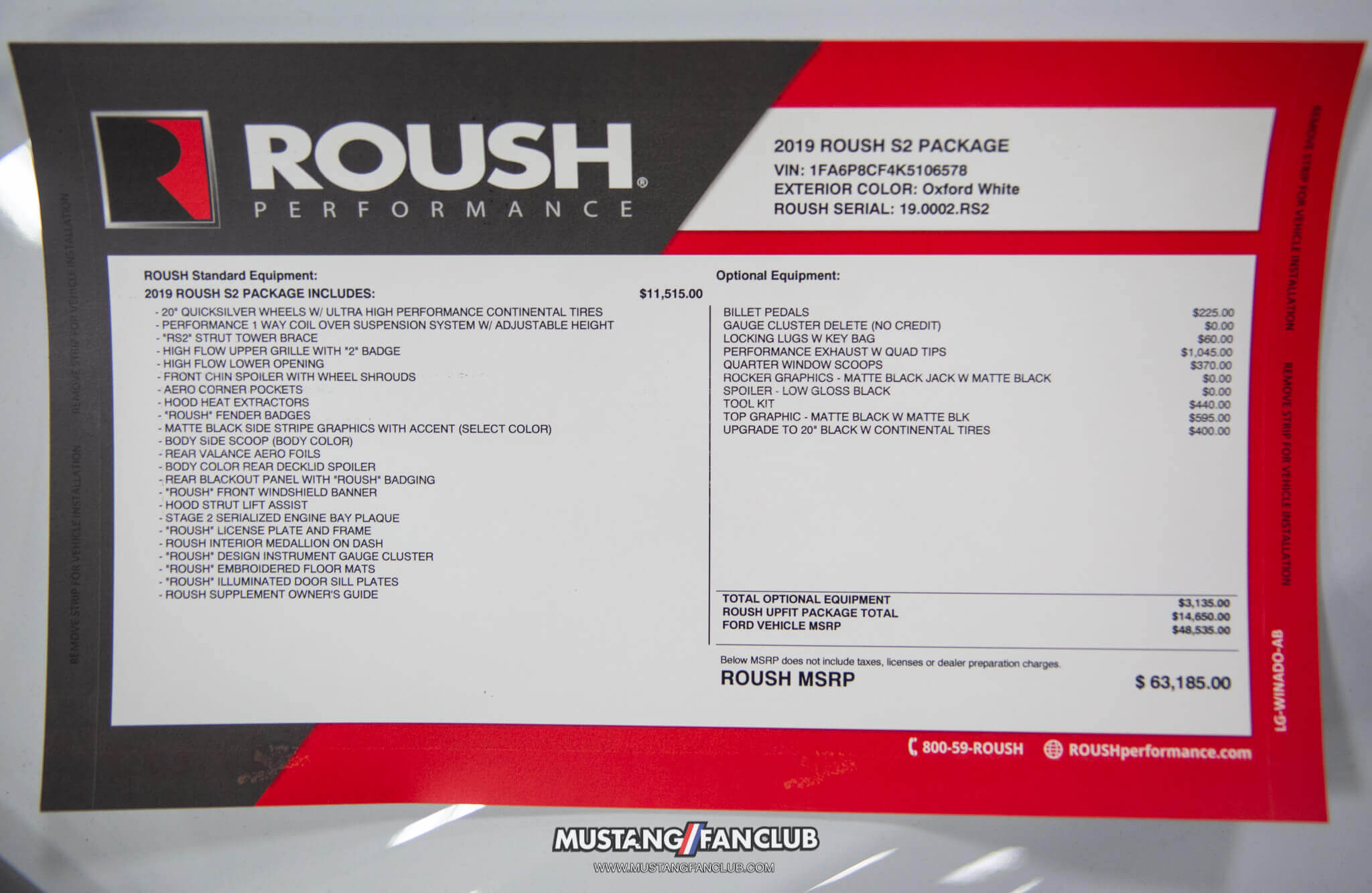 ROUSH Mustang Stage 2