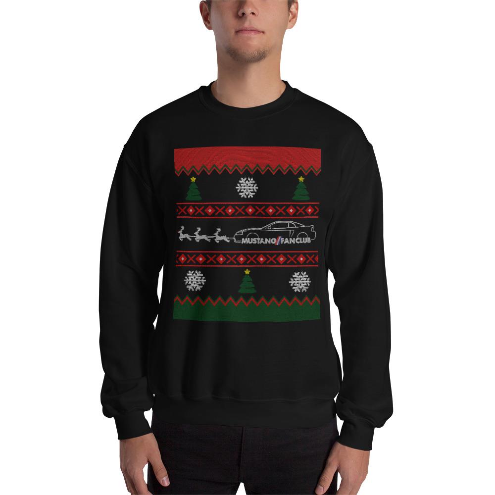 Ugly Christmas New Edge Sweatshirt Mustang Fan Club