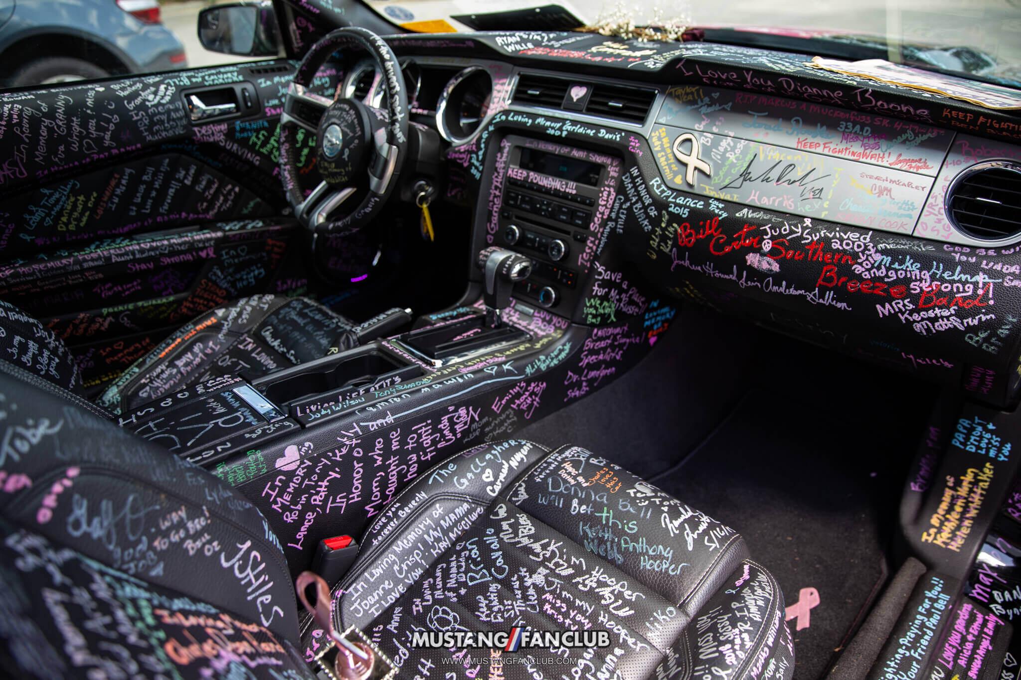 cancer awareness Mustang