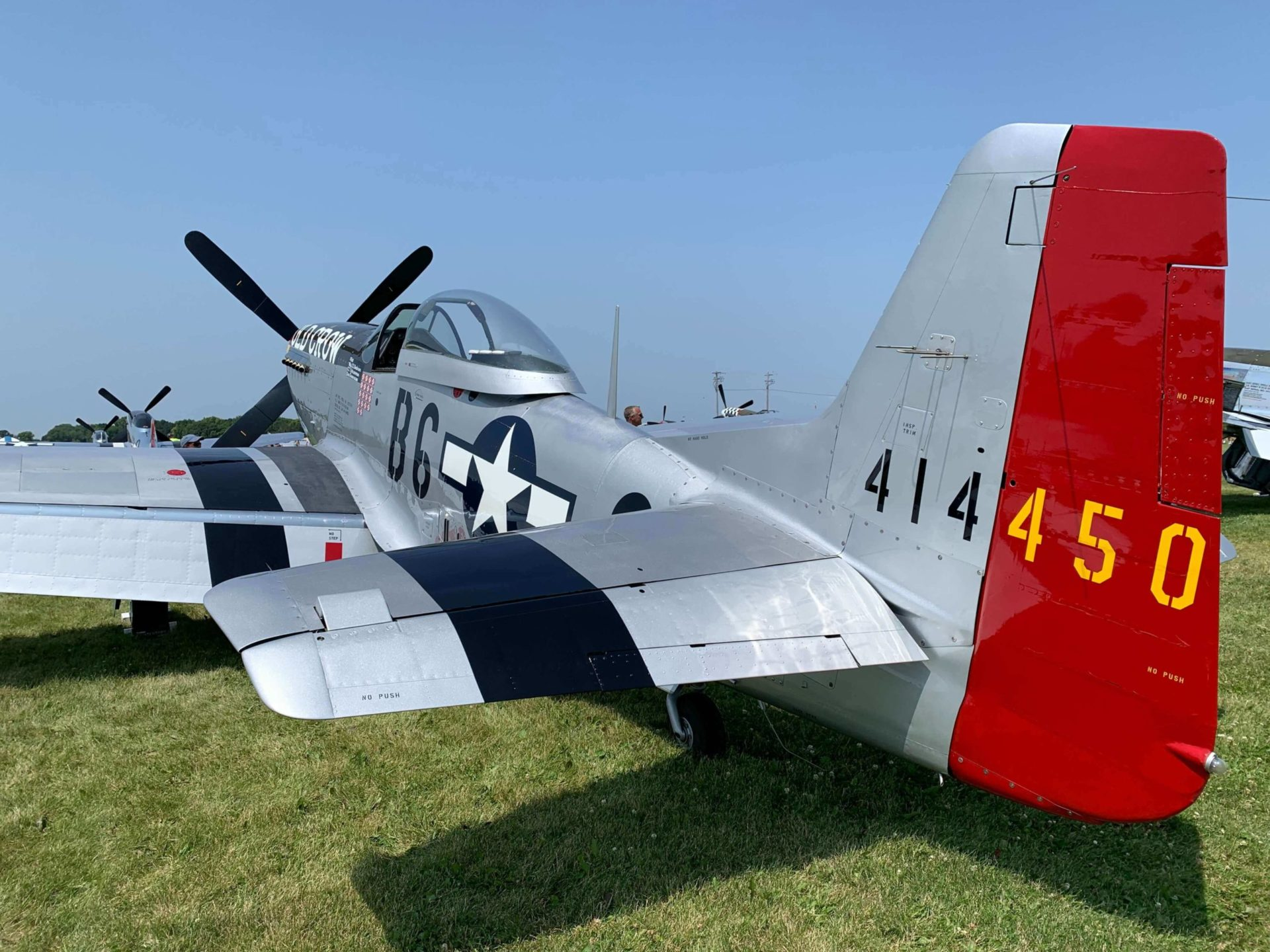 old crow p51 mustang airplane