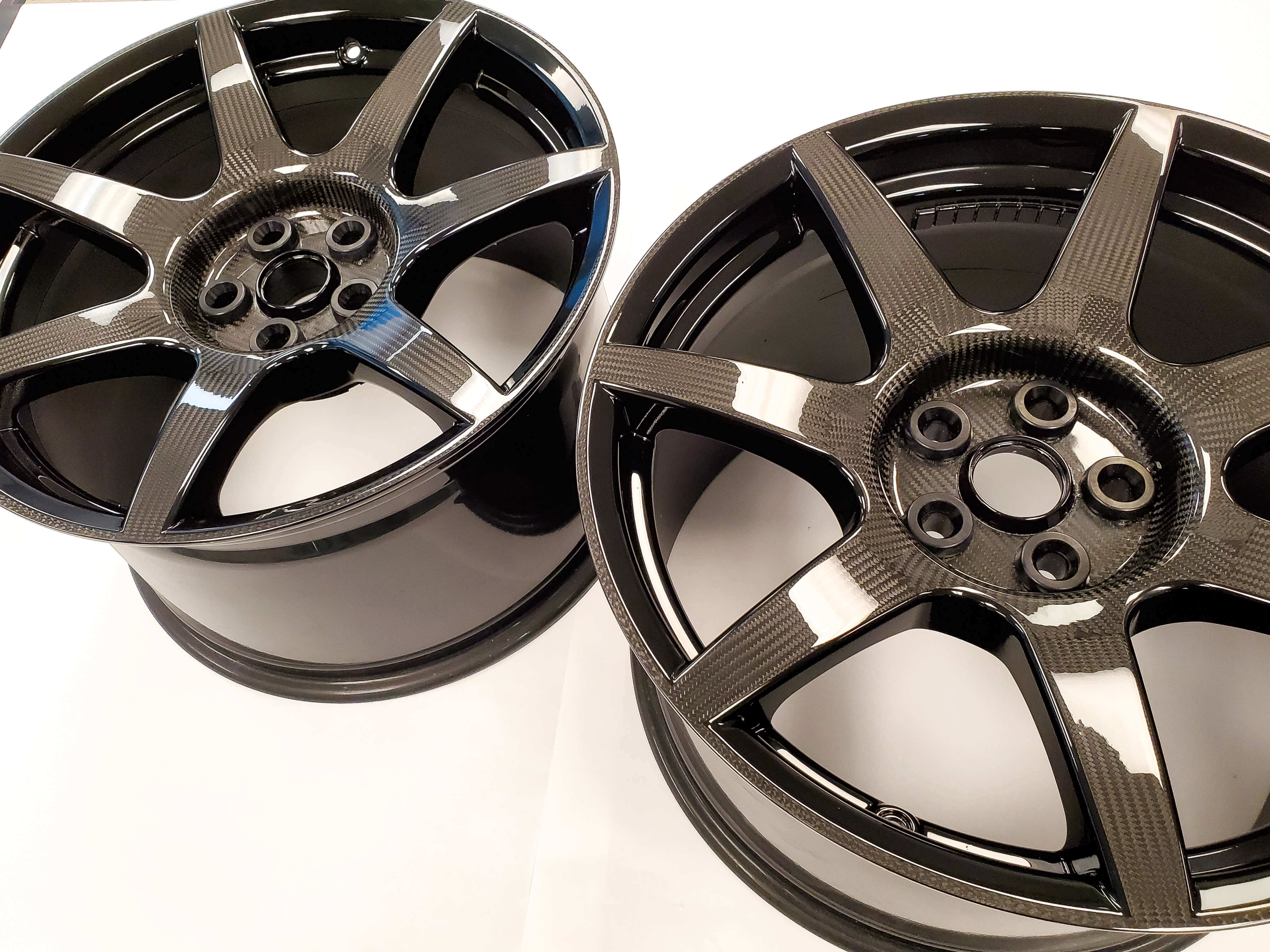 Exposed Carbon Fiber GT350R Wheels by Carbon Signature