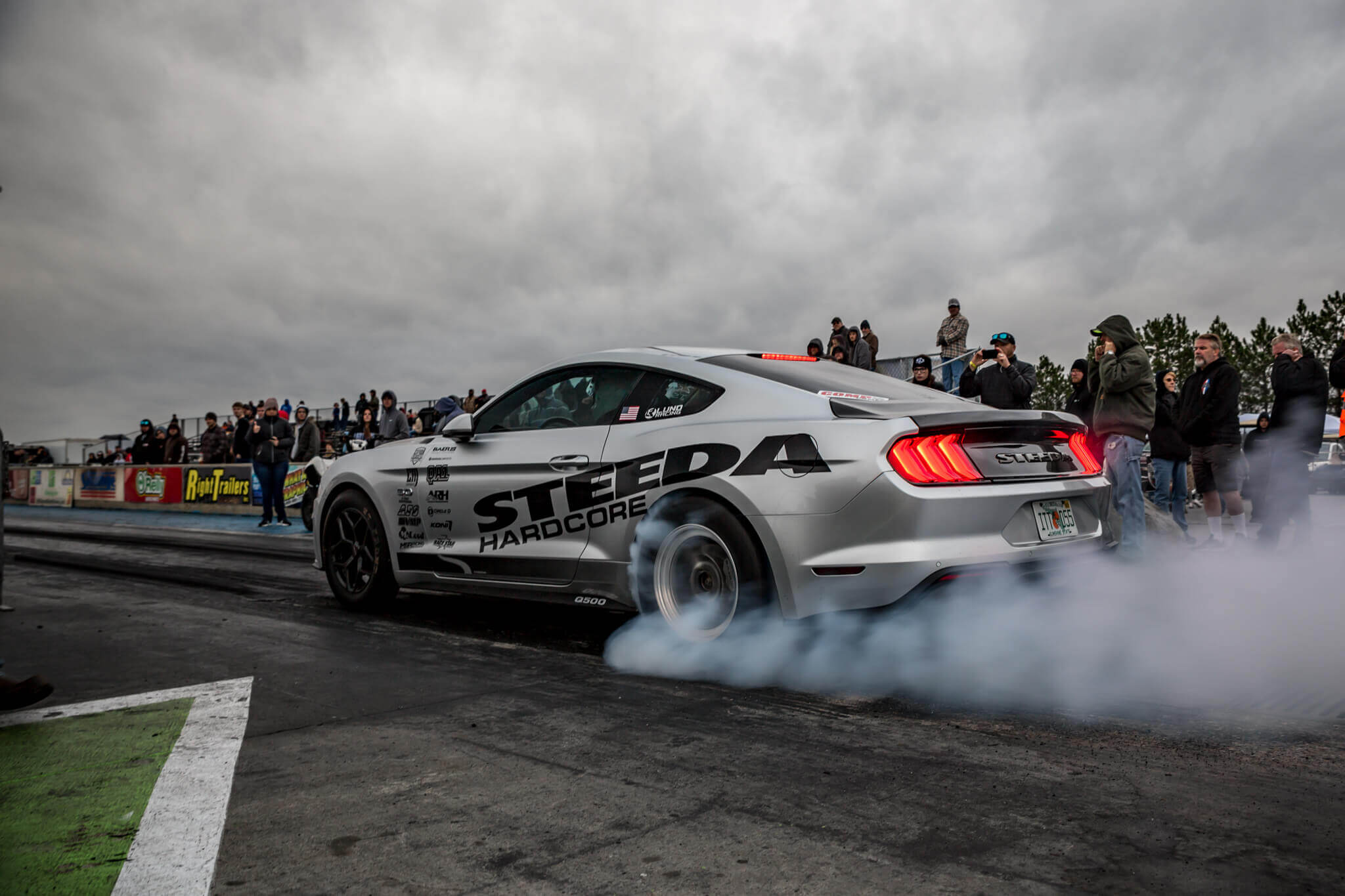 Steeda Silver Bullet Mustang Burnout