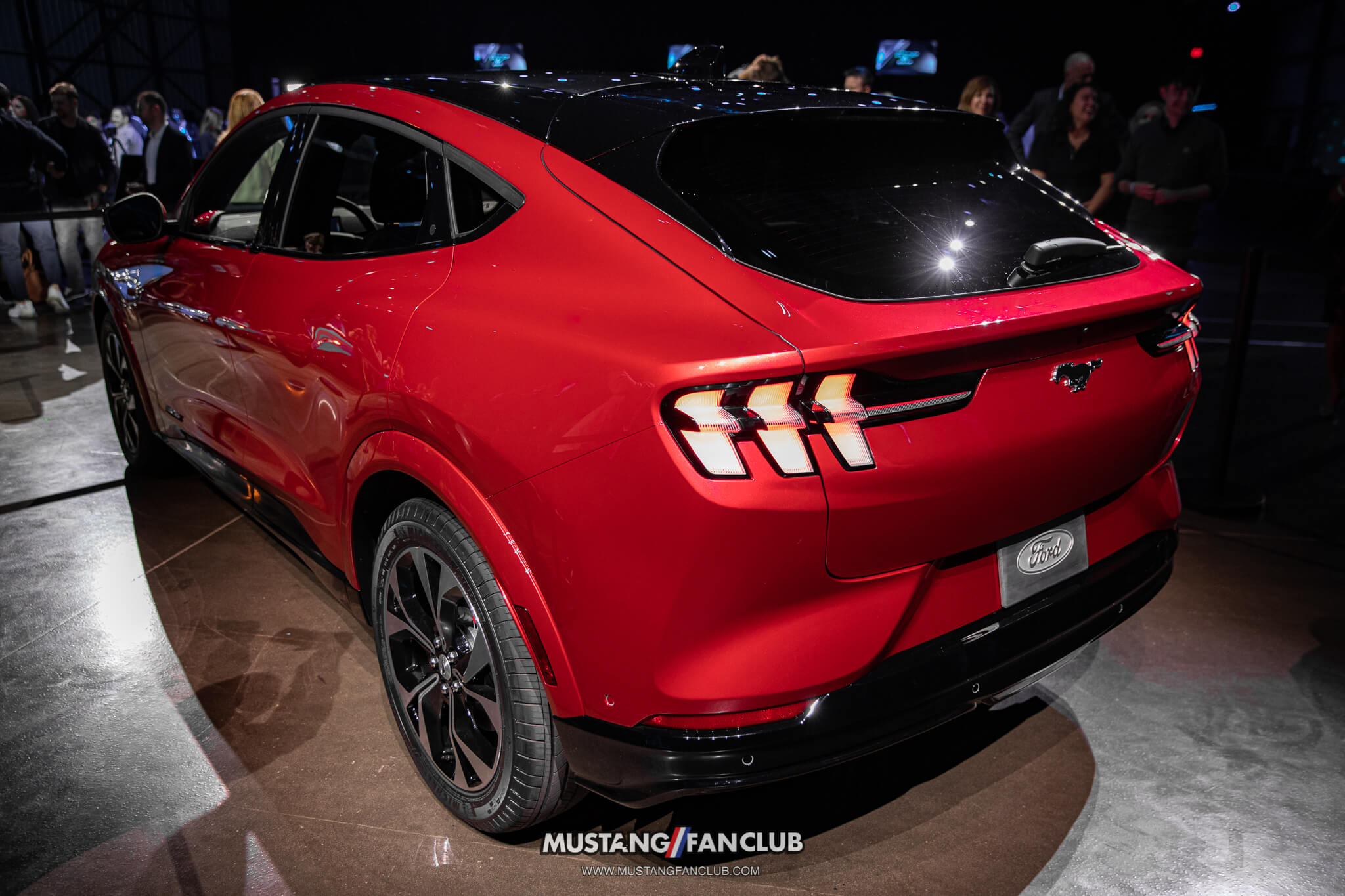 Rapid Red Mustang Mach E