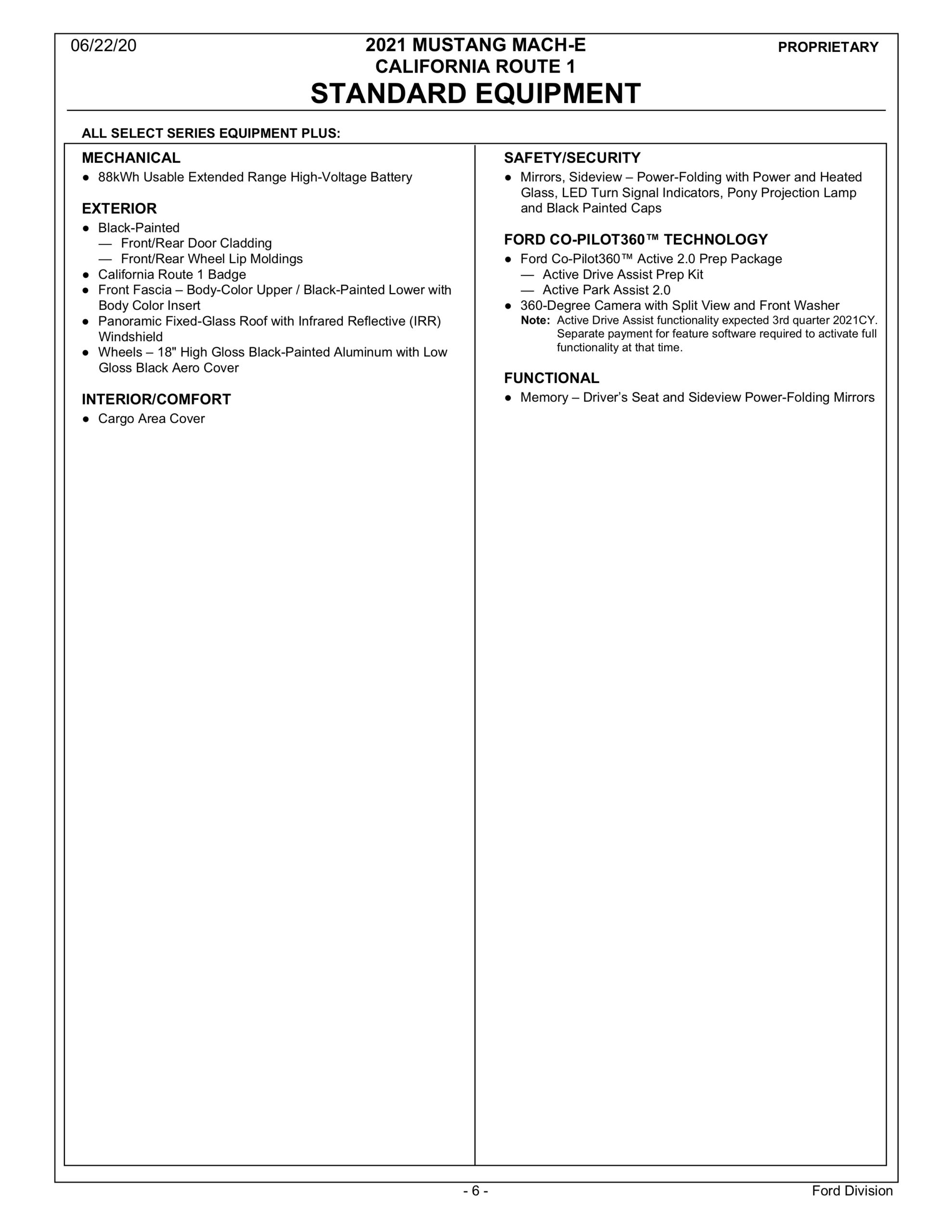 2021 Mach E Order Guide