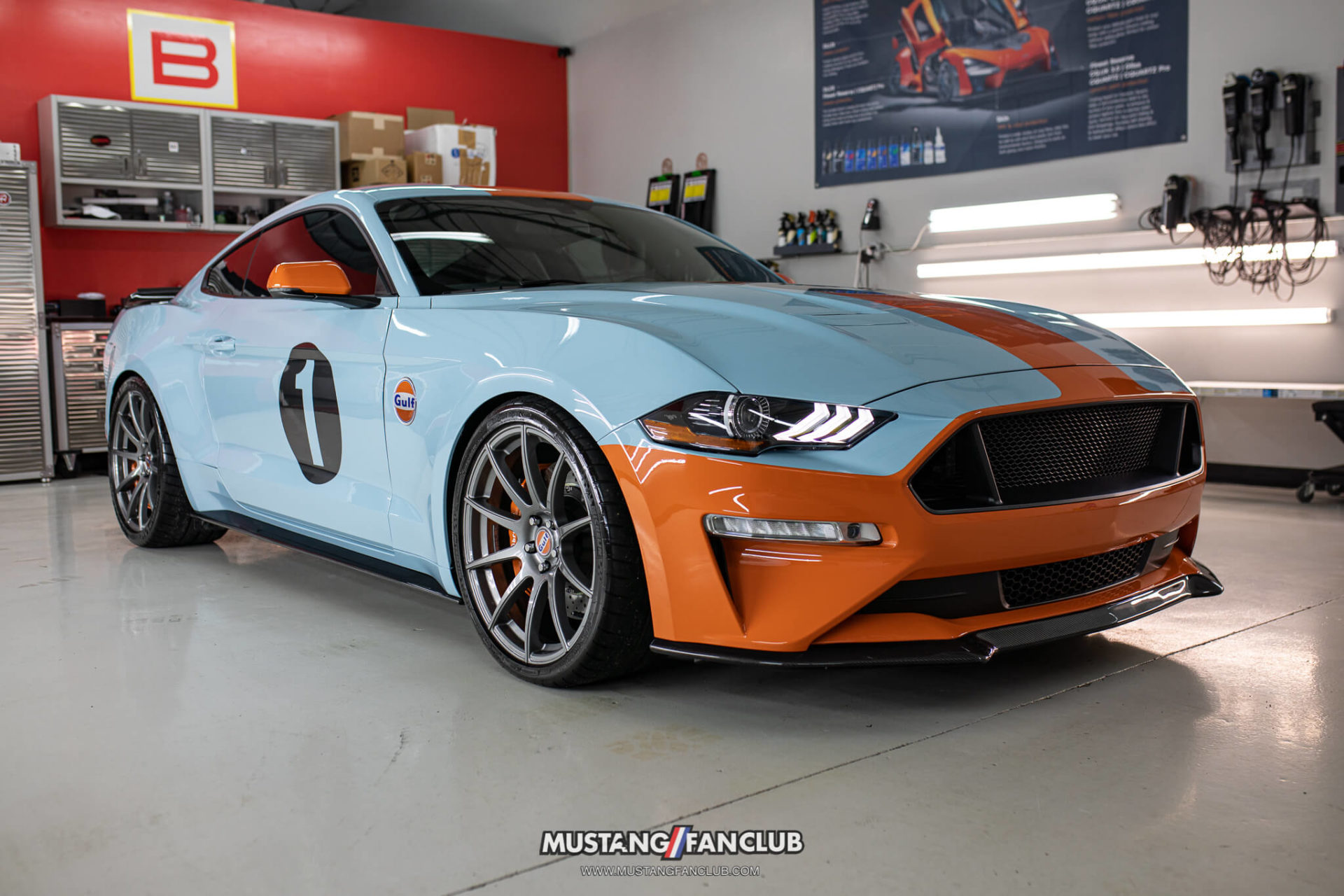 1 of 3 – Gulf Heritage Edition Mustang GT